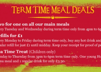 Great meal deals during term, Feed the kids after school