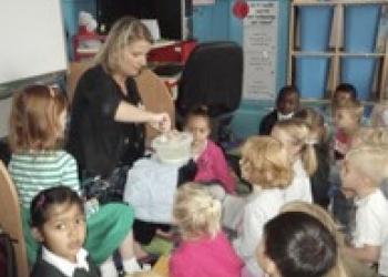 Hobbledown author inspires local school children