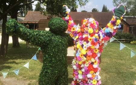 Colourful and full of life, our Hedge Honcho and Flower Ranger are among the latest additions to the Hobbledown team. Their favourite time of the year is Wildflowers, our festival of sound and colour in September, and they will always be the first to