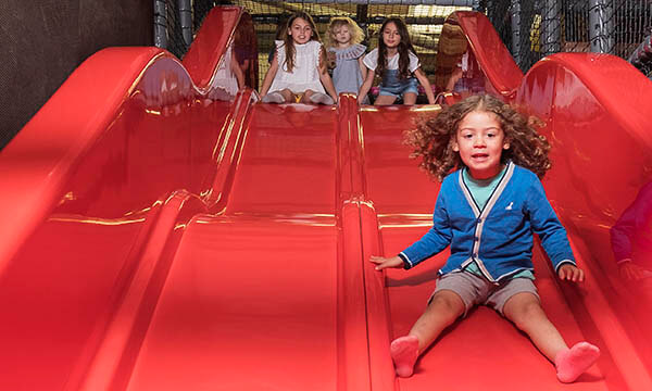 Slides in the Playbarn