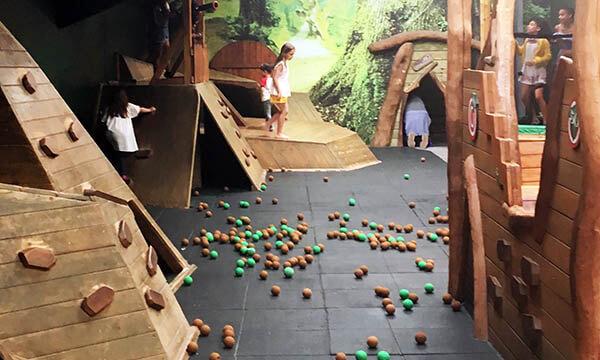 Ball play indoors